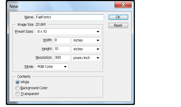 01 create a new photoshop file