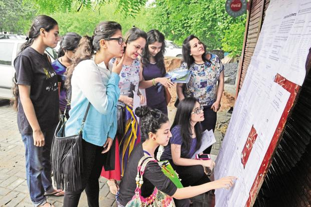 The highest DU cut-off was 99.66% for BSc (Hons) Electronics in SGTB Khalsa College. Photo: HT