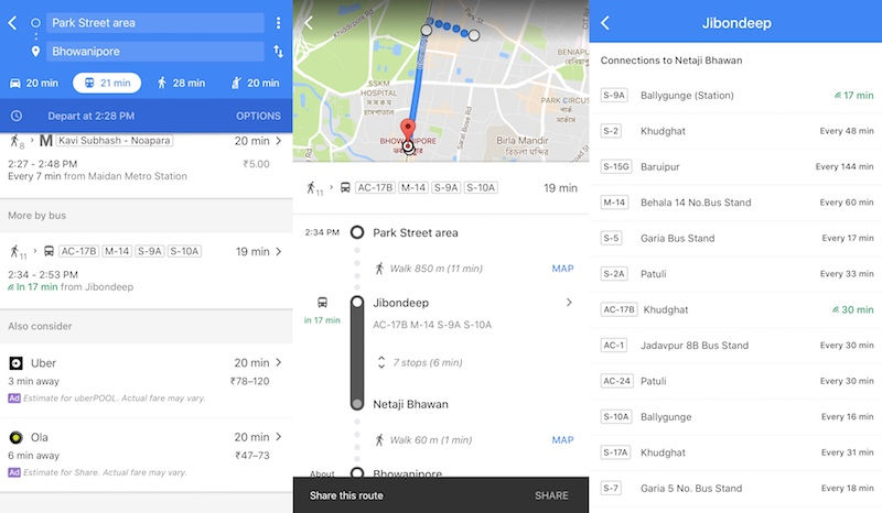 Google Maps Gets Real-Time Bus Information in India, Starting With Kolkata