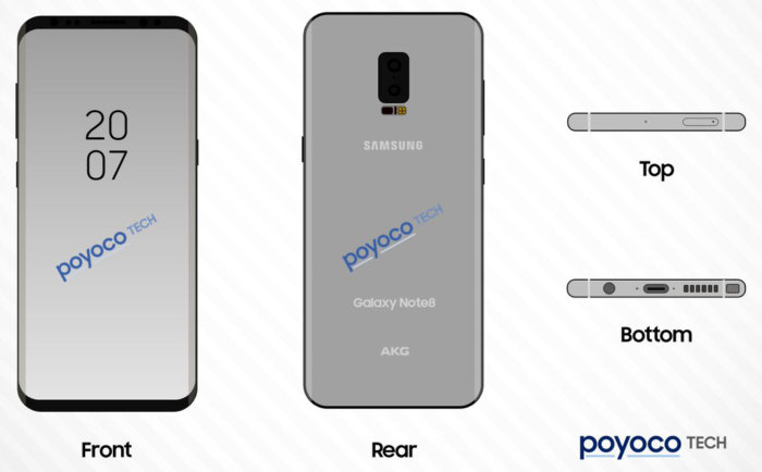 galaxy note 8 leaked schematics