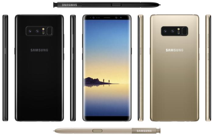 galaxy note8 leak
