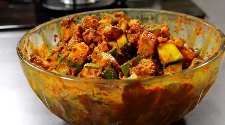Image result for Raw Mango Pickle without oil