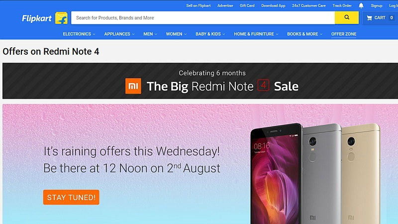 Xiaomi Redmi Note 4 to Be Available in India Today, With 'Big Sale' on Flipkart