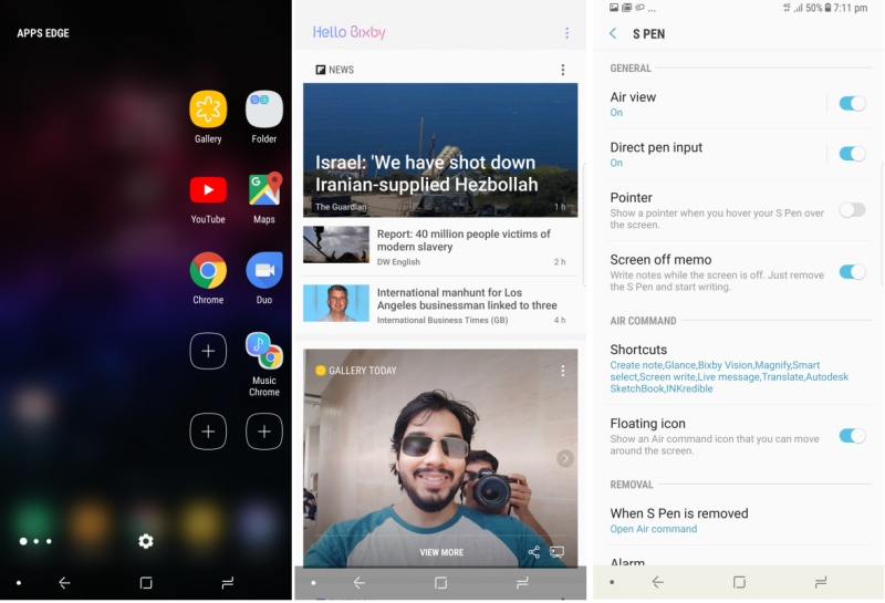 Samsung Galaxy Note 8 UI ndtv samsung