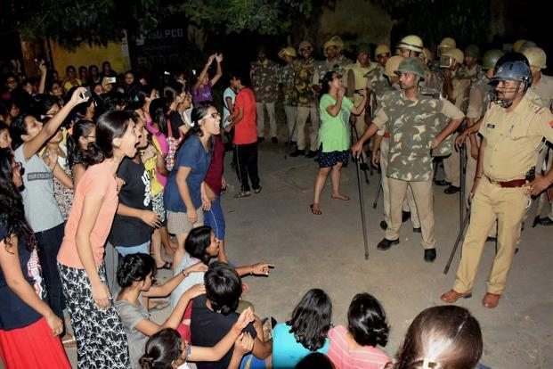 Students protesting at Banaras Hindu University (BHU) had said that women on campus were constantly subjected to harassment with the administration paying no heed to their complaints. Photo: PTI