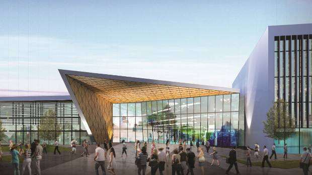 A concept drawing of the planned Christchurch metro sports facility.