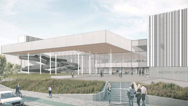 The planned exterior of the new facility.