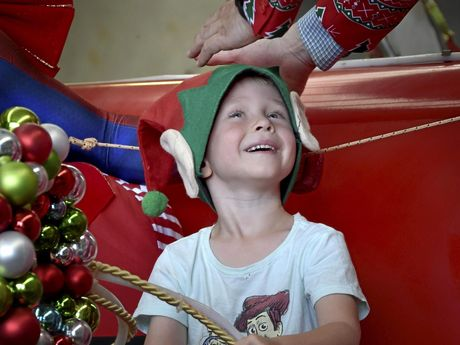 Andrew Hunter, wearing the elf hat that children will be able to make at Christmas in the CBD.