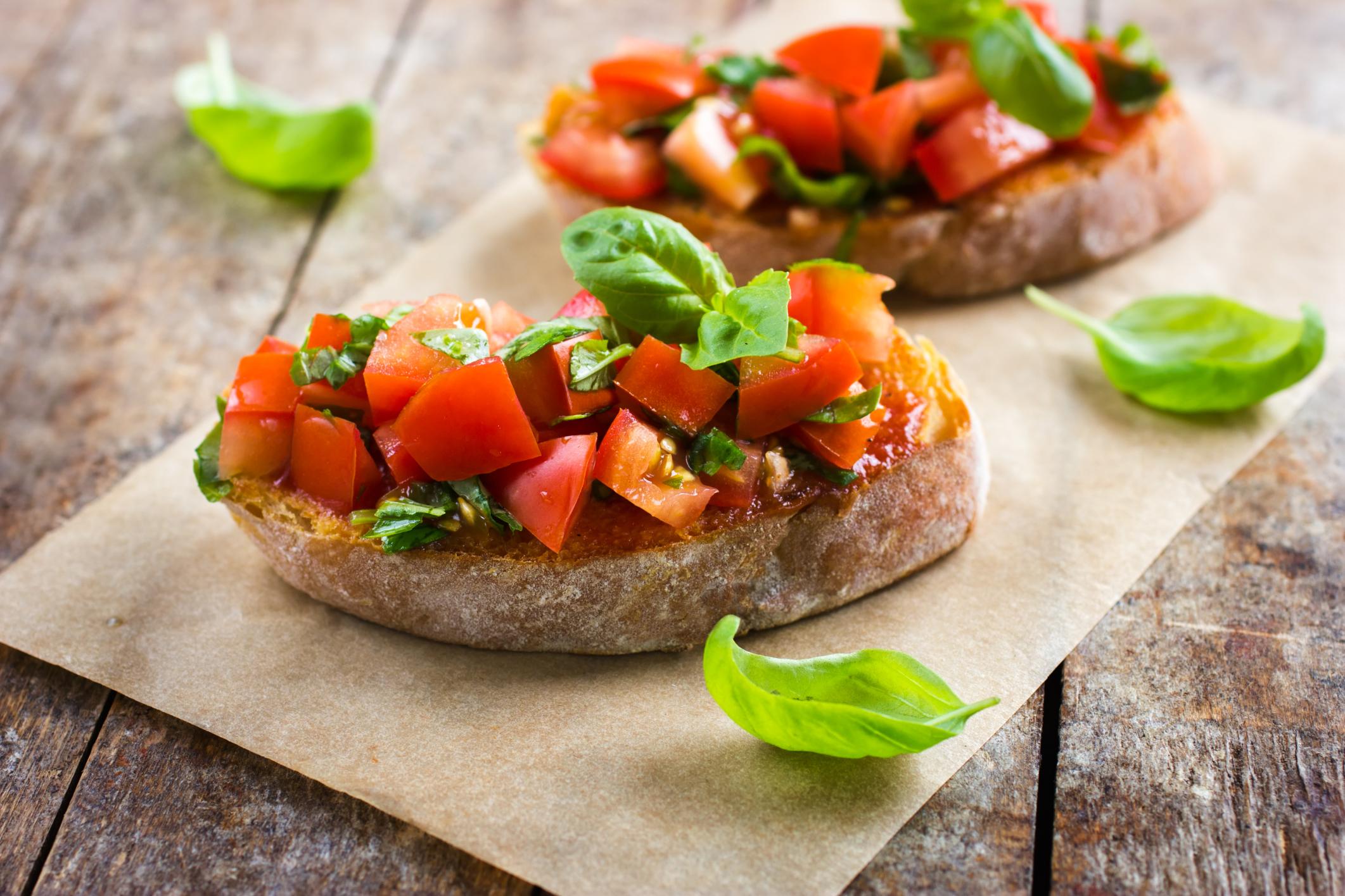 Image result for Tomato Caper Bruschetta