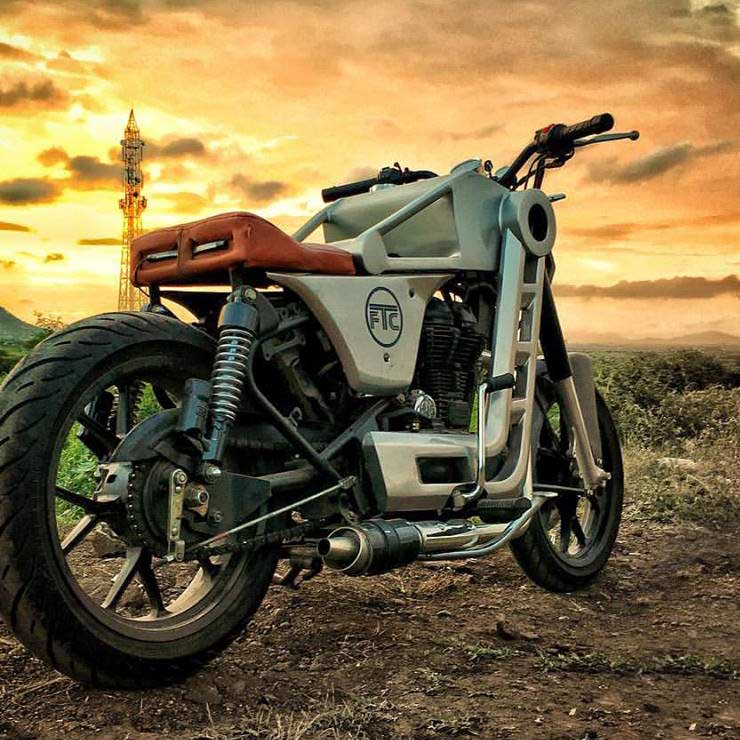 Image result for Modified Royal Enfield Classic 500 'Bazuka' looks like a Confederate Fighter motorcycle