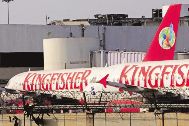 Kingfisher Airlines is the defunct airline of fugitive Vijay Mallya. NSE's delisting move comes after BSE delisted over 200 companies from 11 May as trading in their shares remained suspended for over six months. Photo: Ramesh Pathania/Mint