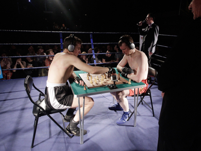 Chess boxing combines brains and brawn — you can win with a knockout or a checkmate.