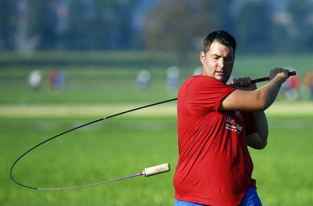 "Hornussen is a Swiss sport sometimes known as ""farmer's golf."""