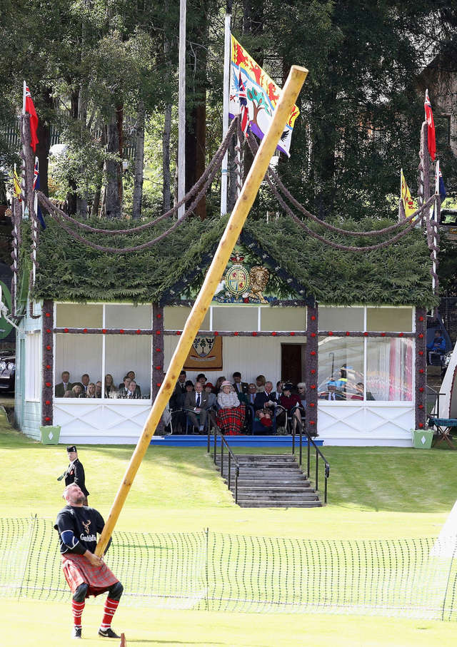 In the caber toss, athletes lift a nearly 20-foot pole and try to flip it end over end.