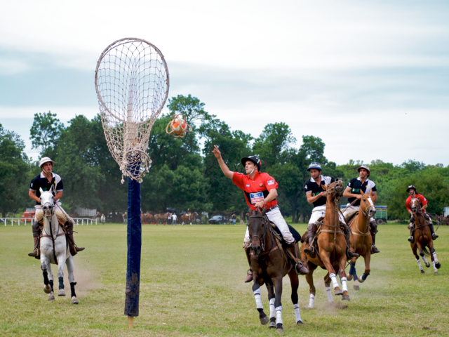 Pato is the national sport of Argentina — it's like basketball on horses.