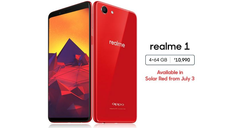 Realme 1 4G RAM Variant Coming in Solar Red Colour Starting Tomorrow