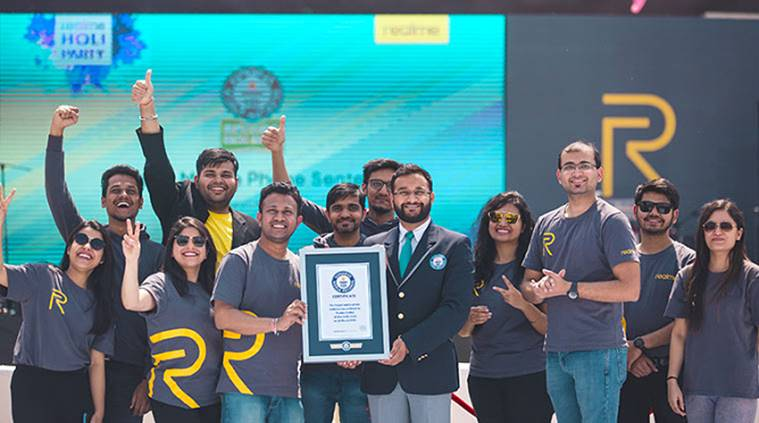 Realme, Realme 3,1024 Realme 3 Radiant Blue, realme mobile, guiness book of records, Oppo Realme, Oppo Realme 3, budget smartphone, technology sponsored, PubG, best budget smartphones, technology, latest news, Indian express