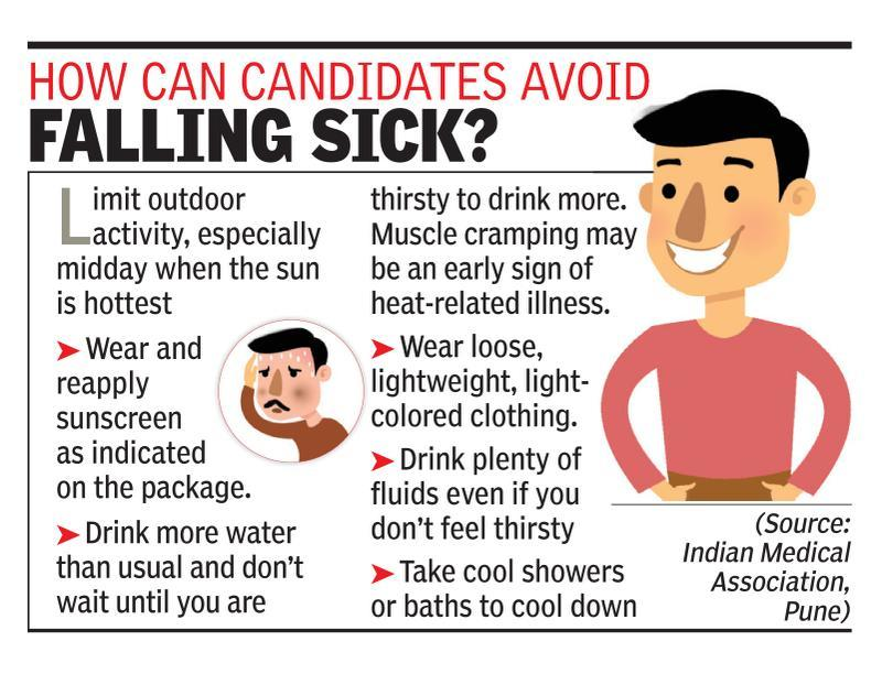 Aspirants make lifestyle changes to cope with heat