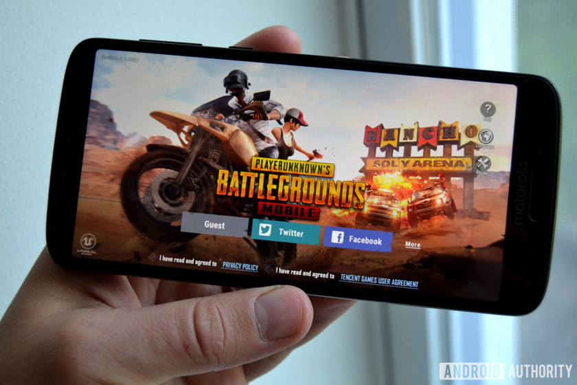 pubg mobile android game moto g6